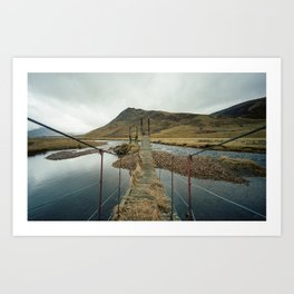 Derelict Bridge Art Print