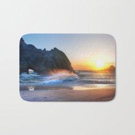 Waves Sunset Bath Mat
