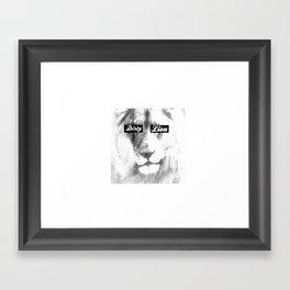 Dirty Lion Framed Art Print