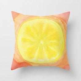 Acid Lemon Throw Pillow