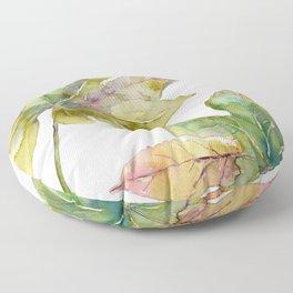 Aralia japonica Leaves Foliage Floor Pillow