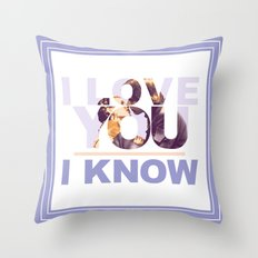 Star Wars Han and Leia I love you, I know Throw Pillow
