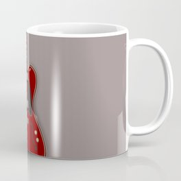 Red semi-electric guitar against a brown background | Vector digital art Coffee Mug