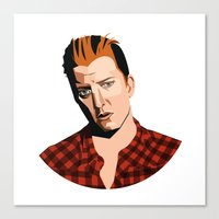 queens of the stone age Canvas Prints featuring Josh Homme, Queens of the Stone Age, Vecto by Morgane Dagorne