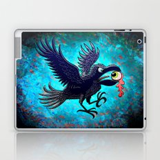 Crow Stealing an Eye Laptop & iPad Skin