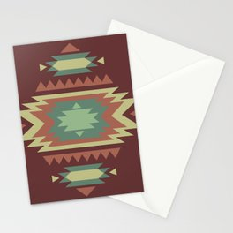 Geometric Tribal Indian Pattern Stationery Cards