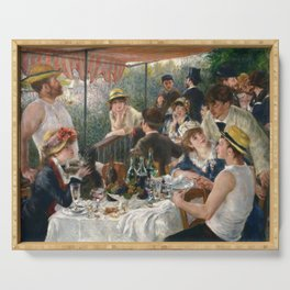 Auguste Renoir  -  Luncheon Of The Boating Party Serving Tray
