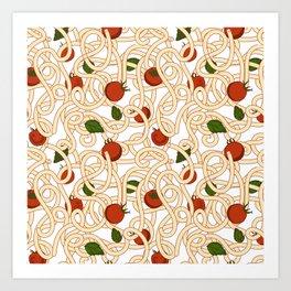 Spaghetti with tomato Art Print