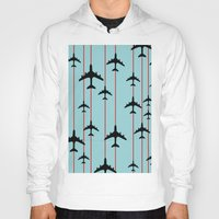 planes Hoodies featuring Planes by Frances Roughton