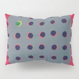 Green floats on Yellow - O Pillow Sham