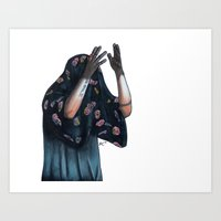 Floral Ghost Art Print