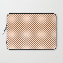 Autumn Maple Polka Dots Laptop Sleeve
