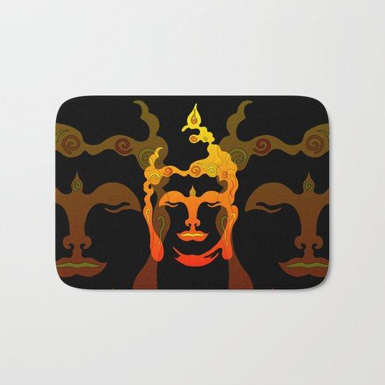 Illustration Buddha Head orange black design by move-art