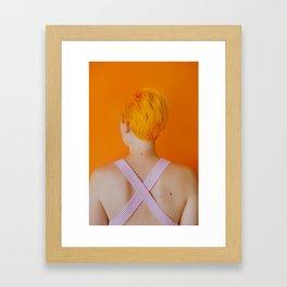 celia in orange Framed Art Print