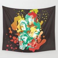 floyd Wall Tapestries featuring Pink Floyd Tribute (Alternate Version) by RJ Artworks
