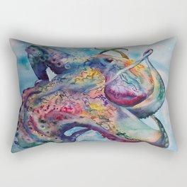 Wild Watercolor Octopus Rectangular Pillow