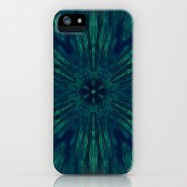 Blue Green Marine Flower iPhone Case