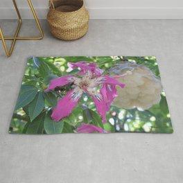 Silk Floss Tree Blossom & Fluff Rug