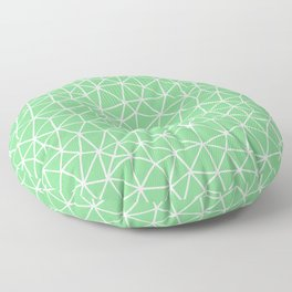 Connectivity - White on Mint Green Floor Pillow
