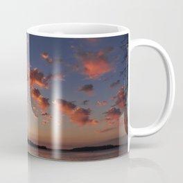 Puffy, pink Puget Sound sunset Coffee Mug