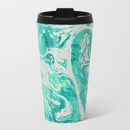 Abstract Ultra Aquamarine Marble Travel Mug