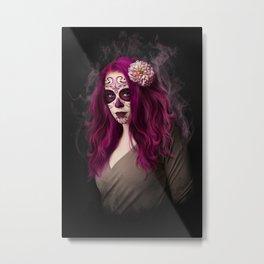 SugarSkull Queen Metal Print