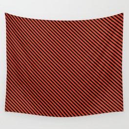 Tangerine Tango and Black Stripe Wall Tapestry
