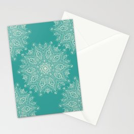 Teal and Lace Mandala Stationery Cards