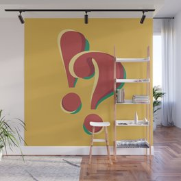 ! & ? (doubts and emotions) Wall Mural