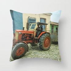 Trinidad tractor Throw Pillow