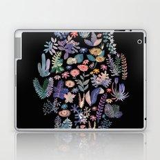 flower circle in black Laptop & iPad Skin