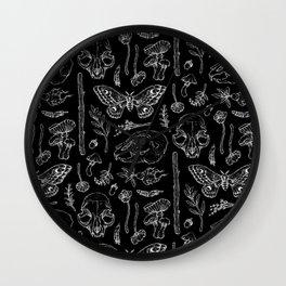 Witchcraft II [B&W] Wall Clock
