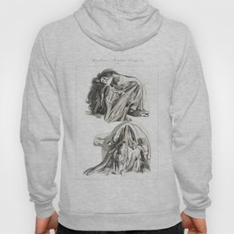 Human Anatomy Art Print CHIN NECK THROAT Vintage Anatomy, doctor medical art, Antique Book Plate, Me Hoody