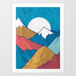The Crosshatch Sky Art Print