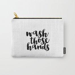 Bathroom art Bathroom sign Printable Hand lettered Nursery Decor kids Bathroom Wall art Print Carry-All Pouch