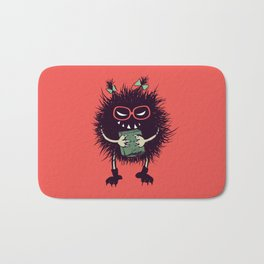 Evil Bug Student Loves To Read Bath Mat