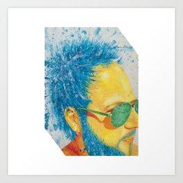 Ray Ban Man Art Print