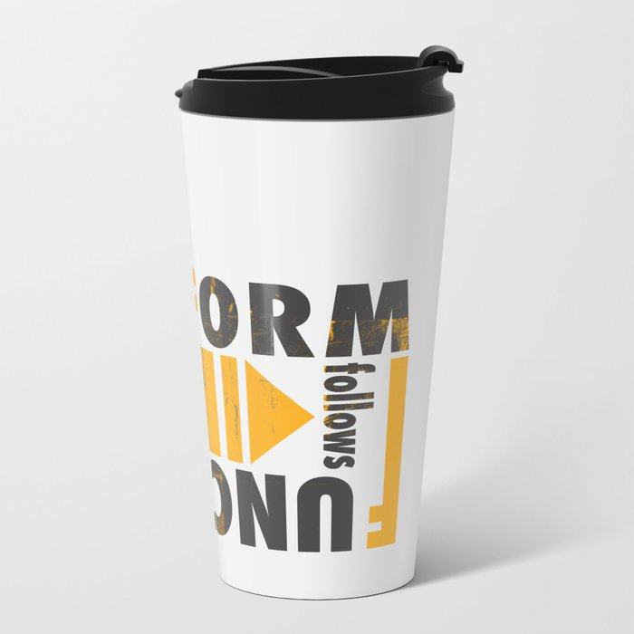 Forming the Quote Metal Travel Mug