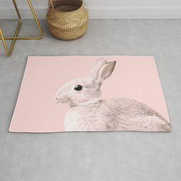 Blush Baby Bunny #1 #decor #art #society6 Rug