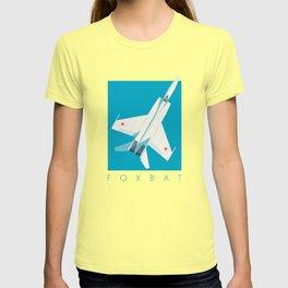 MiG-25 Foxbat Interceptor Jet Aircraft - Cyan T-shirt
