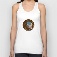 starlord Tank Tops featuring Headgear: Star-Lord comics by Miguel Camilo