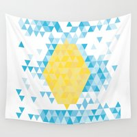lemon Wall Tapestries featuring Lemon by By Myyna