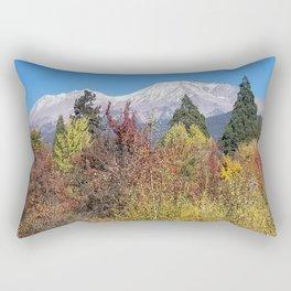 Shasta at Fall Rectangular Pillow