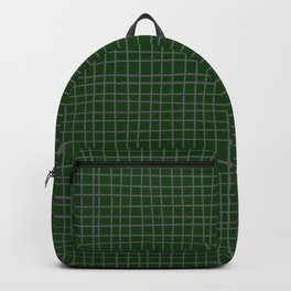 Emerald Green Grid Backpack