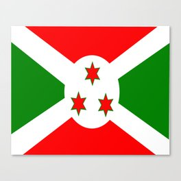 Flag of Burundi Canvas Print