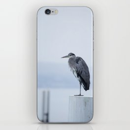 Observer - Heron in the Harbour - Seascape #decor #society6 #buyart iPhone Skin