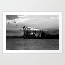 Harbour Sunset - Travel photo Art Print