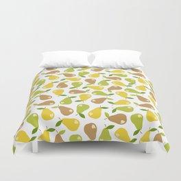 Bitten pears Duvet Cover