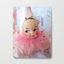 Kitsch Pixie Doll Metal Print