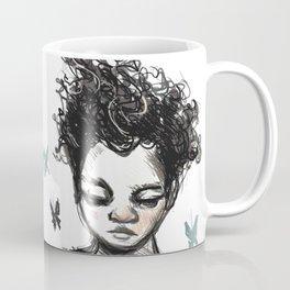 Girl with Butterfles Coffee Mug